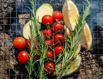 Verduras y fruta cítrica Fotografía de archivo libre de regalías