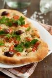 Verduras y pizza sanas del vegetariano de las setas Fotografía de archivo