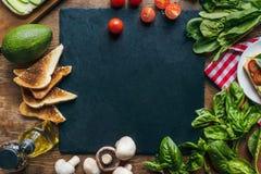 verduras y tostadas Imagen de archivo