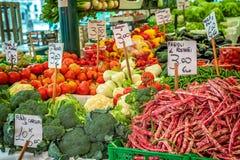 Verdure al mercato Immagini Stock Libere da Diritti