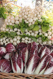 Verdure al mercato dell'agricoltore Fotografia Stock Libera da Diritti