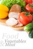 Verdure & carne Immagine Stock Libera da Diritti