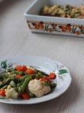 Verdure arrostite con formaggio Fotografie Stock Libere da Diritti