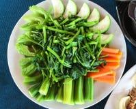 Verdure bollite Fotografia Stock