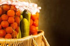 Verdure casalinghe di Canneds Fotografia Stock