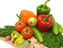 Verdure, cipolla, finocchio, aglio su un backg bianco Immagini Stock Libere da Diritti