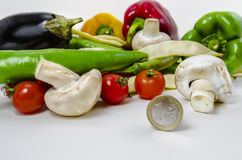 Verdure con il prezzo basso fotografie stock libere da diritti