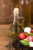 Verdure con olio d'oliva Immagini Stock