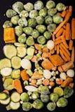 Verdure congelate Fotografia Stock Libera da Diritti
