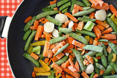 Verdure congelate assortite Immagini Stock Libere da Diritti