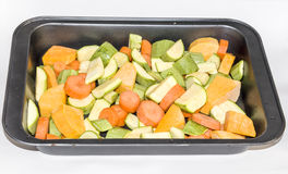 Verdure crude affettate Fotografia Stock