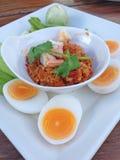 Verdure del curry dell'uovo Immagine Stock