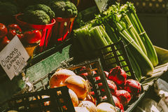 Verdure del mercato Immagini Stock