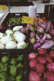 Verdure del mercato degli agricoltori fotografia stock
