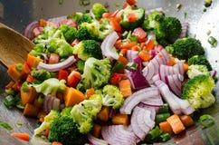 Verdure del wok Immagini Stock Libere da Diritti