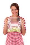 Verdure della cucina della donna fotografia stock libera da diritti