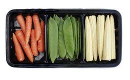 Verdure della frittura di Stir mini Fotografie Stock Libere da Diritti