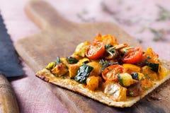 Verdure della pizza fotografia stock