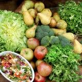 Verdure di cousine dell'alimento e composizione nella frutta, ingrediente per l'ea Immagine Stock