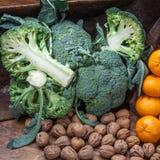 Verdure di cousine dell'alimento e composizione nella frutta, ingrediente per mangiare Immagine Stock Libera da Diritti
