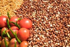 Verdure e dadi di frutta fresca Immagini Stock