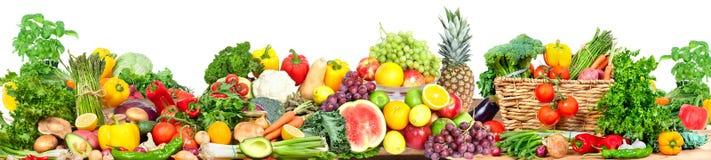 Verdure e fondo di frutti immagine stock