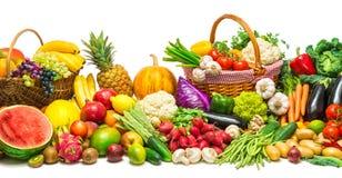 Verdure e fondo di frutti fotografia stock libera da diritti