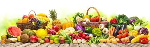 Verdure e fondo di frutti immagini stock libere da diritti