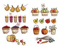 Verdure e frutta del mercato degli agricoltori Fotografie Stock Libere da Diritti