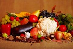 Verdure e frutta di autunno Immagine Stock