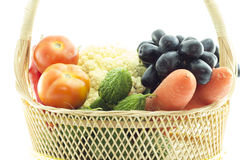 Verdure e frutta organiche sane Immagine Stock