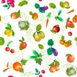 Verdure e modello senza cuciture di frutti Illustrazione di Stock
