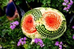 Verdure e scultura della frutta fotografia stock libera da diritti