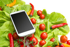 Verdure e Smartphone Immagine Stock Libera da Diritti
