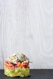 Verdure e tartaro dell'anguilla o delle giovani anguille del bambino Fotografia Stock Libera da Diritti