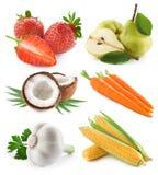 Verdure ed accumulazione della frutta Immagini Stock Libere da Diritti