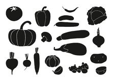 Verdure ed insieme dell'icona delle radici royalty illustrazione gratis