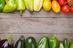Verdure fresche del giardino degli agricoltori Fotografie Stock Libere da Diritti