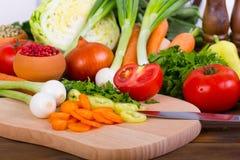 Verdure fresche e organiche fotografia stock