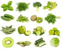 Verdure, frutta e colore verde delle spezie Fotografia Stock Libera da Diritti