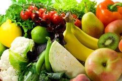 Verdure, frutta ed erbe piccanti Immagini Stock