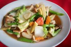 Verdure miste sauteed in salsa dell'ostrica Fotografia Stock
