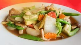 Verdure miste sauteed in salsa dell'ostrica Fotografia Stock Libera da Diritti