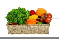 Verdure nel cestino Fotografia Stock Libera da Diritti