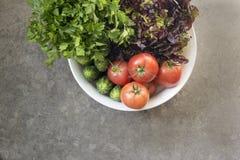Verdure organiche appena raccolte fotografie stock
