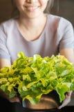 Verdure organiche in calice Immagini Stock Libere da Diritti