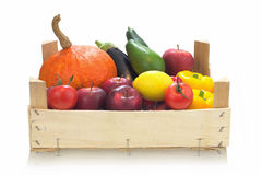 Verdure organiche dell'assortimento variopinto Immagine Stock