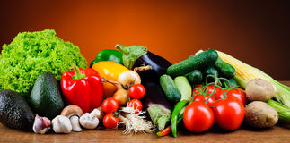 Verdure organiche fresche Fotografie Stock Libere da Diritti