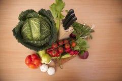 Verdure organiche fresche fotografia stock