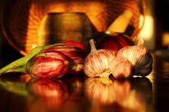 Verdure organiche messe Immagini Stock